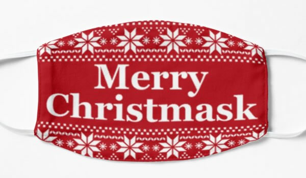 Healthcare mask with Merry Christmask text